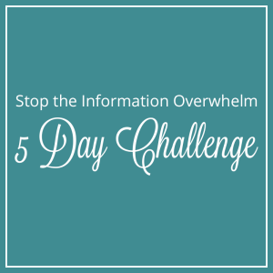 Stop the Information Overwhelm Challenge